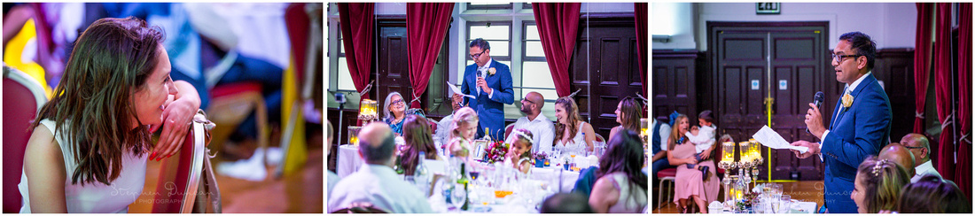 The best man makes his speech during the wedding meal
