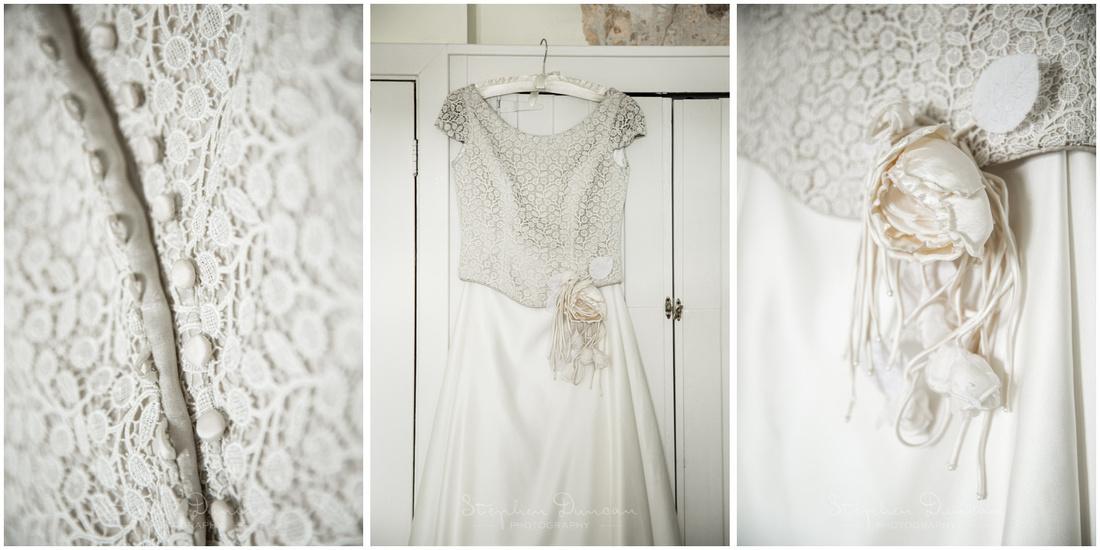 Details of wedding dress