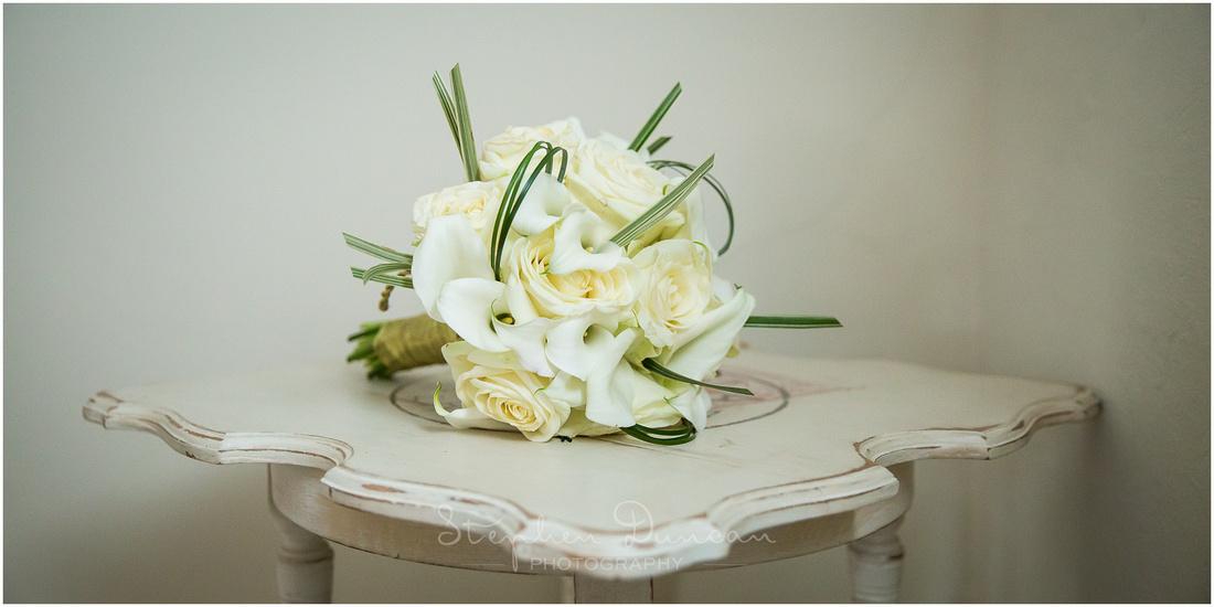 Detail image of bride's wedding flowers