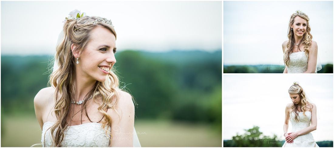Colour photos of bride alone