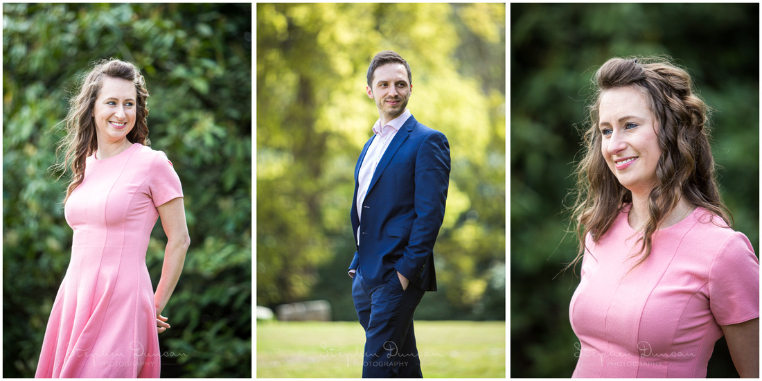 Individual photos of bride and groom