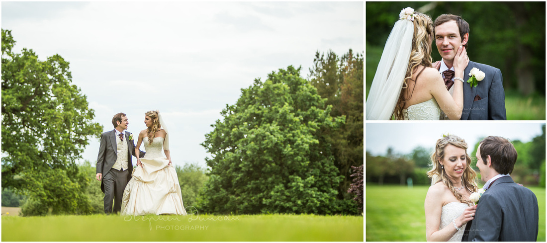 Posed images of bride and groom together