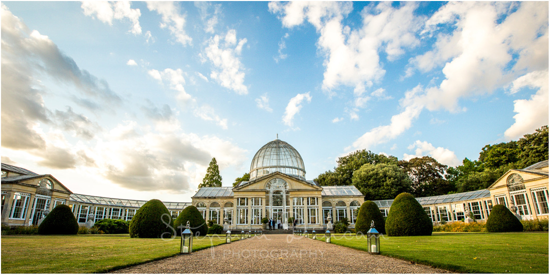 The stunning conservatory; the scene for the evening's celebrations and a unique reception venue