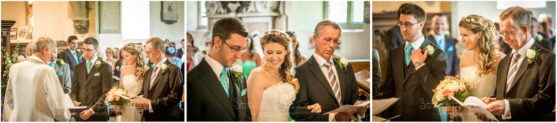 The start of the wedding ceremony, beginning with the first hymn