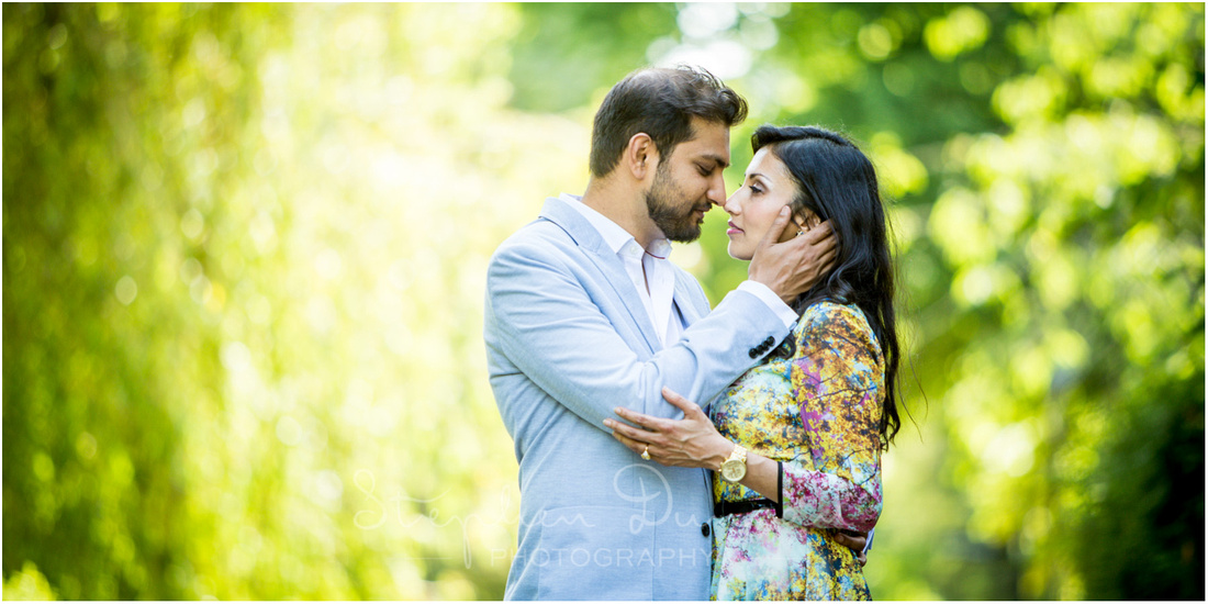 Intimate And Romantic Couple Pose Winchester Portrait PhotographyBacklit
