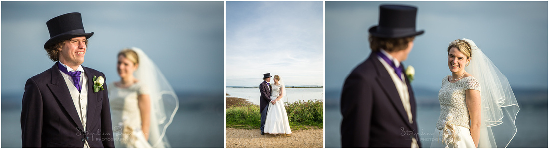 Bride and groom photo session in Lymington