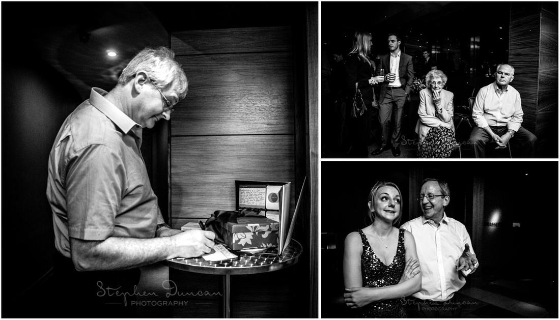 Documentary photos at start of evening wedding celebrations