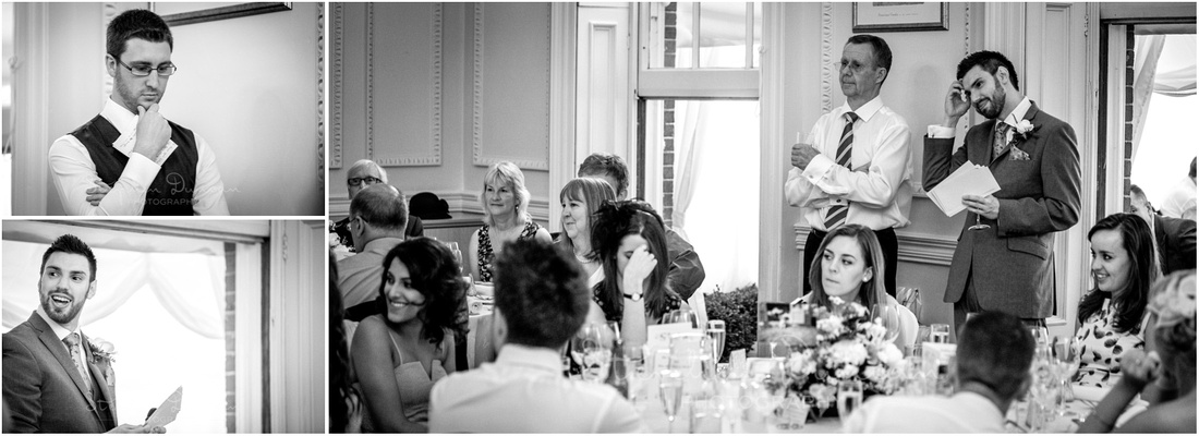 Candid moments during the wedding speeches
