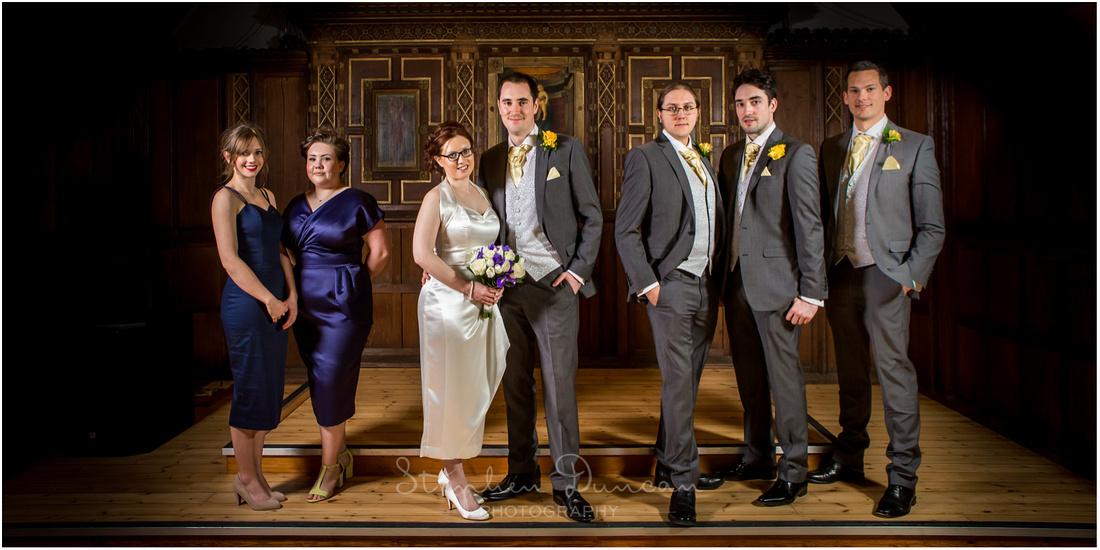 bridal party - ushers and bridesmaids